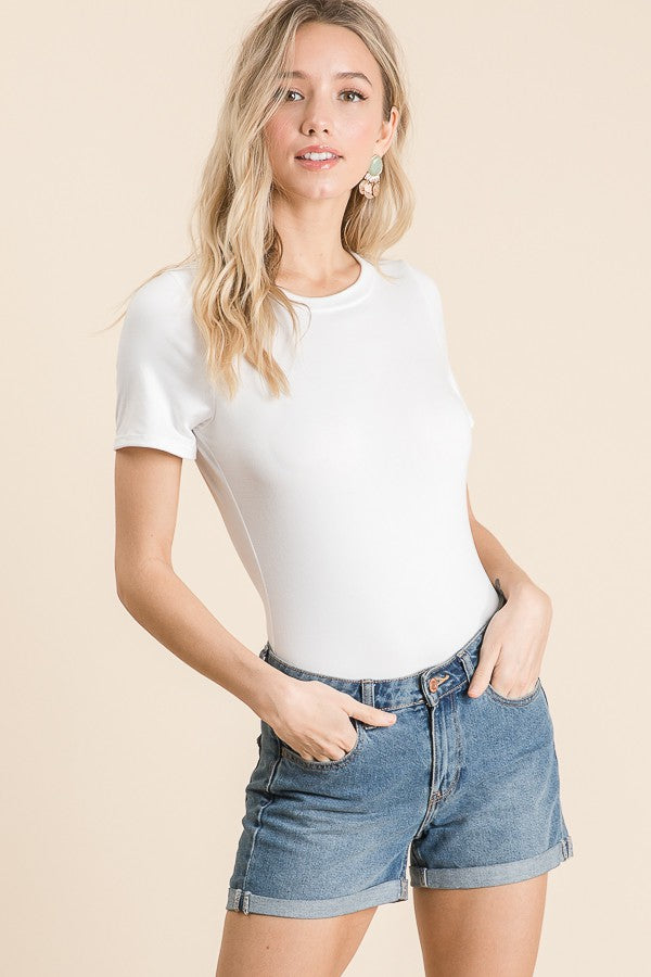 Brushed Body Suit Short Sleeves