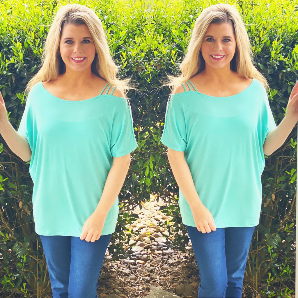 Mint One Shoulder Top