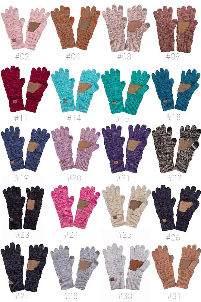 CC Two Tone Touch Screen Gloves