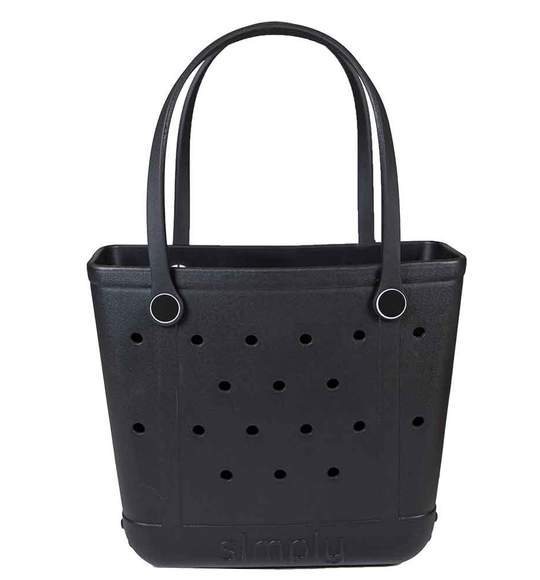 Simply Southern Black Small Solid Tote Bags