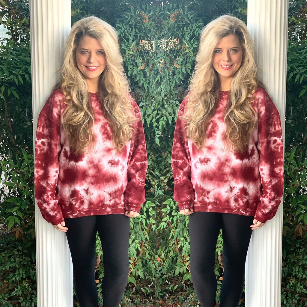High Quality Super Soft Tie Dye Corded Sweatshirt