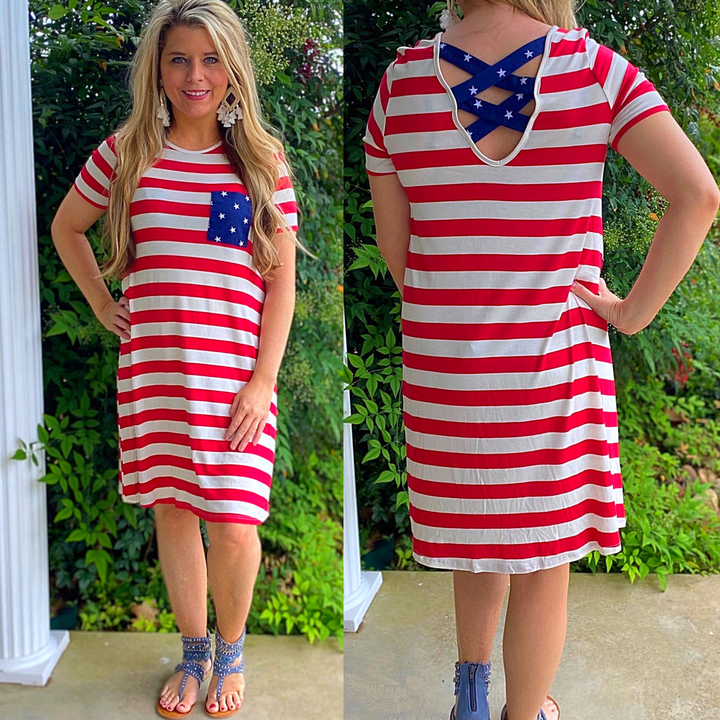 American Flag Criss Cross Dress