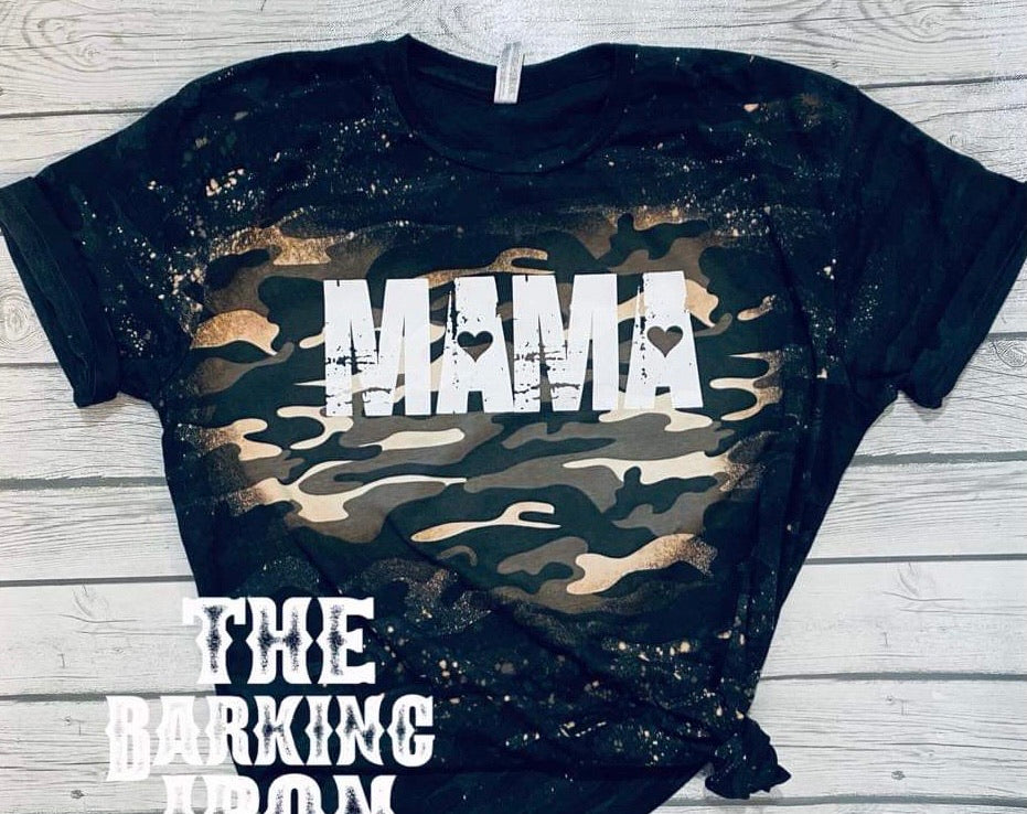 Mama Bleached Camo Top
