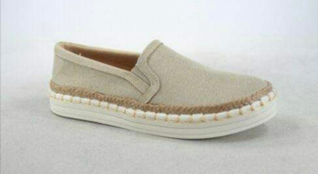 Tan Comfy Slip On Shoes