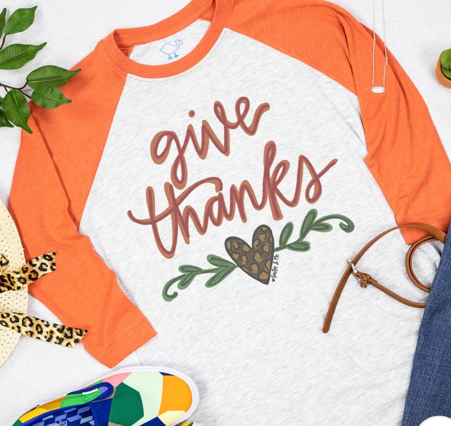 Southern Roots Give Thanks Leopard Design