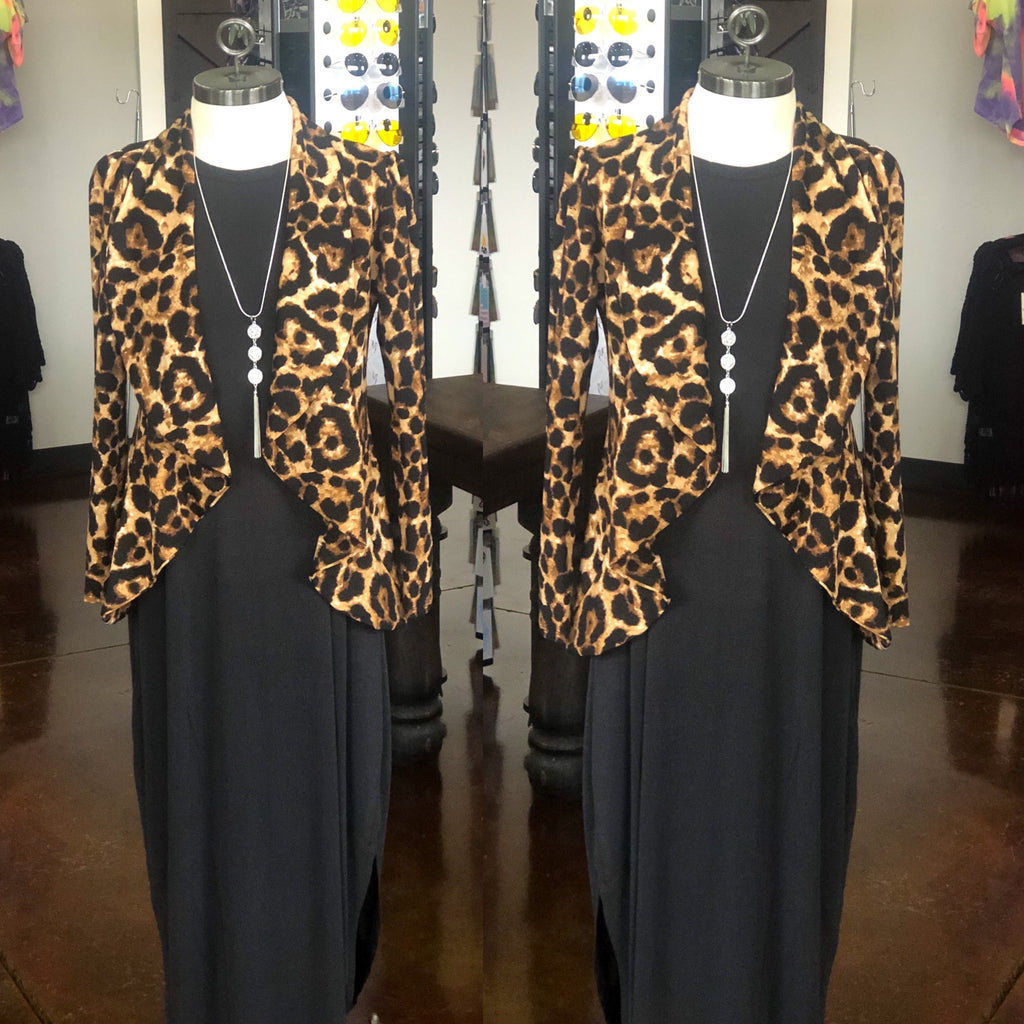 Cheetah Loose Fit Blazer