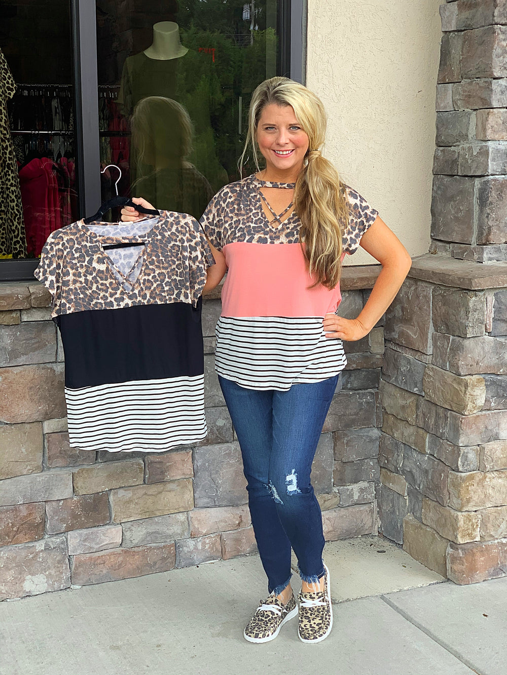 Color Block Criss Criss Top