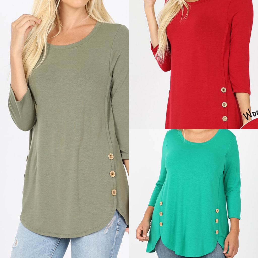 Curvy ~ Door Buster Button Tunic - STore credit Exchange Only