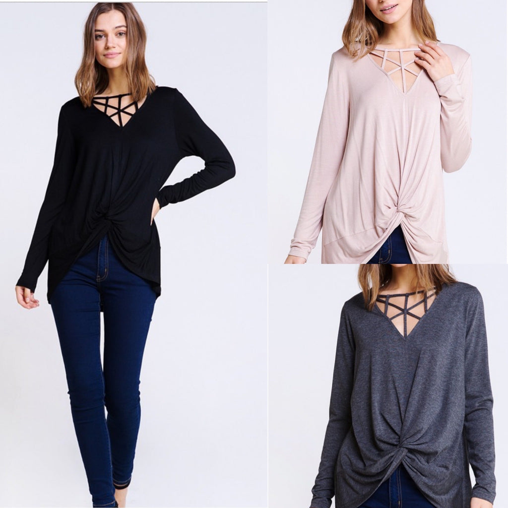 Caged Tie Knot Top