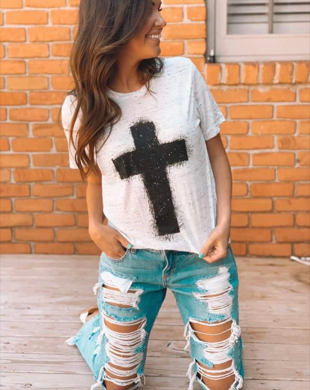 Marble Cross T-Shirt