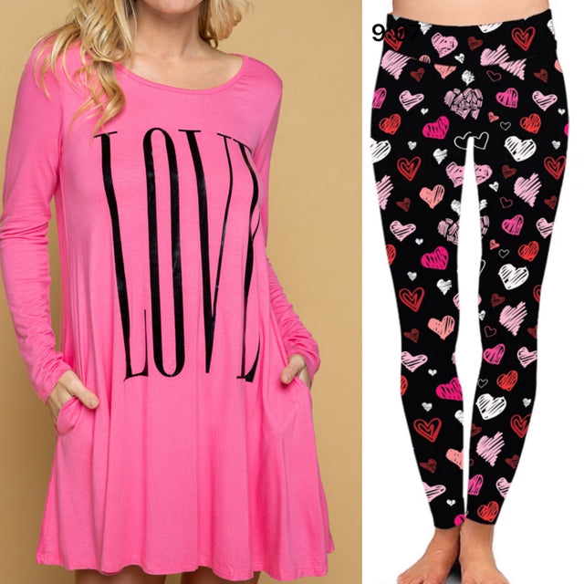 BAAKK Valentines Yoga Band Leggings