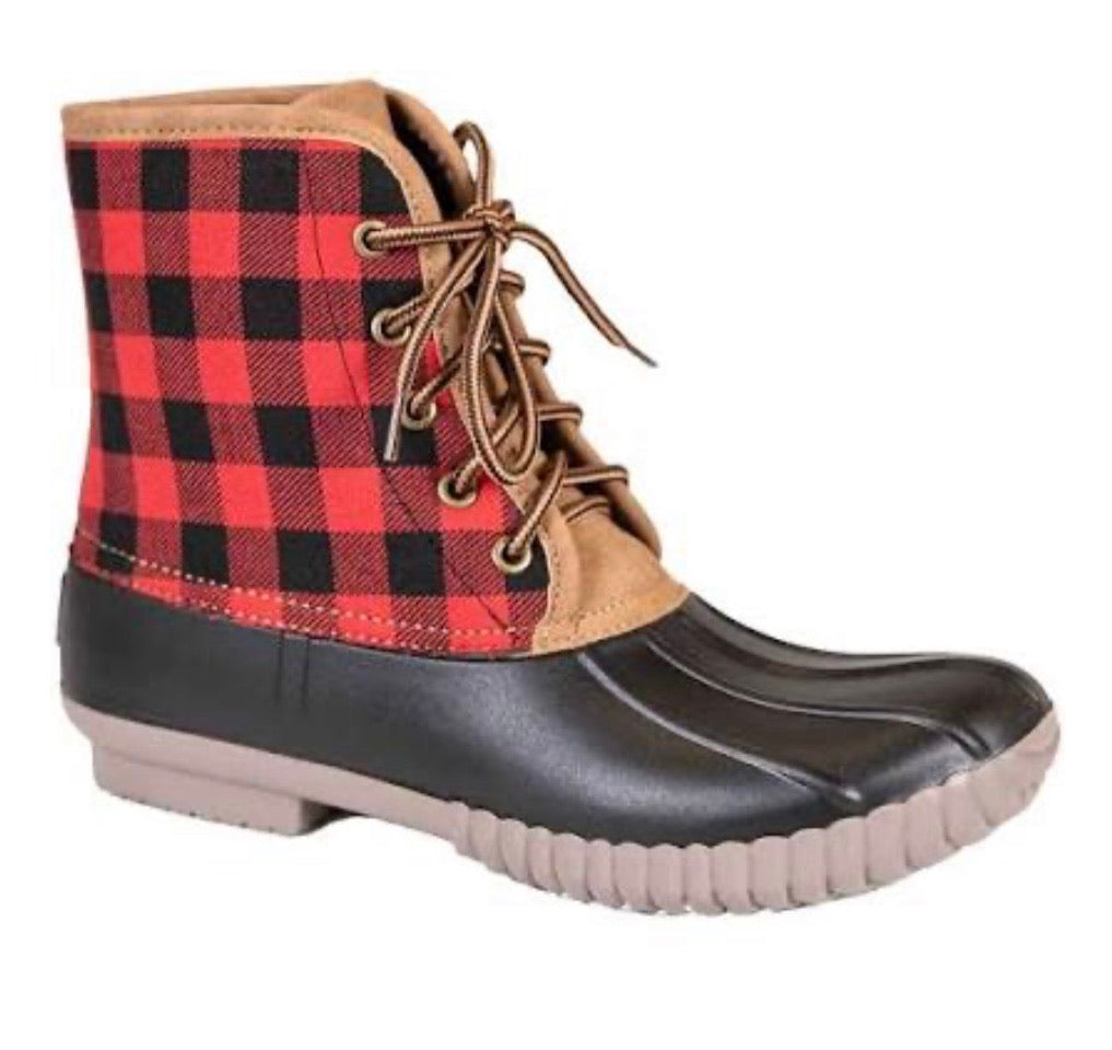 Simply Southern Plaid Duck Boots