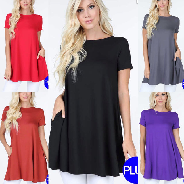 Curvy ~ Super Soft Solid Tunics