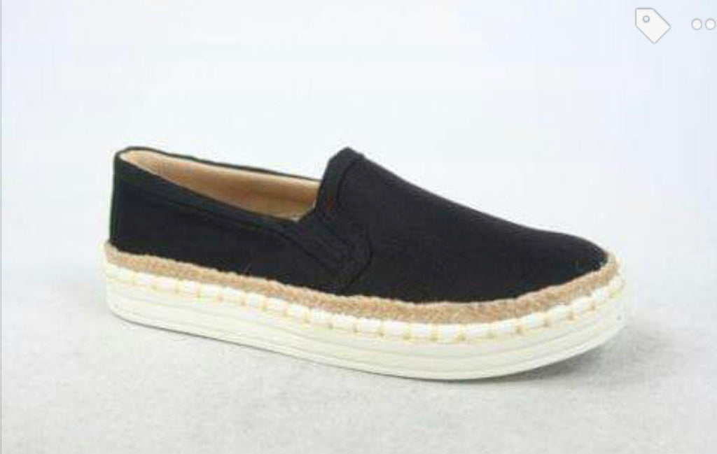 Comfy Black Slip On Sneakers