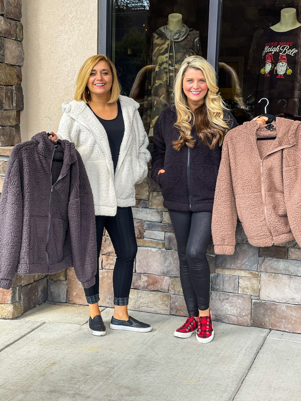 Curvy ~ Soft Hooded Sherpa Jackets