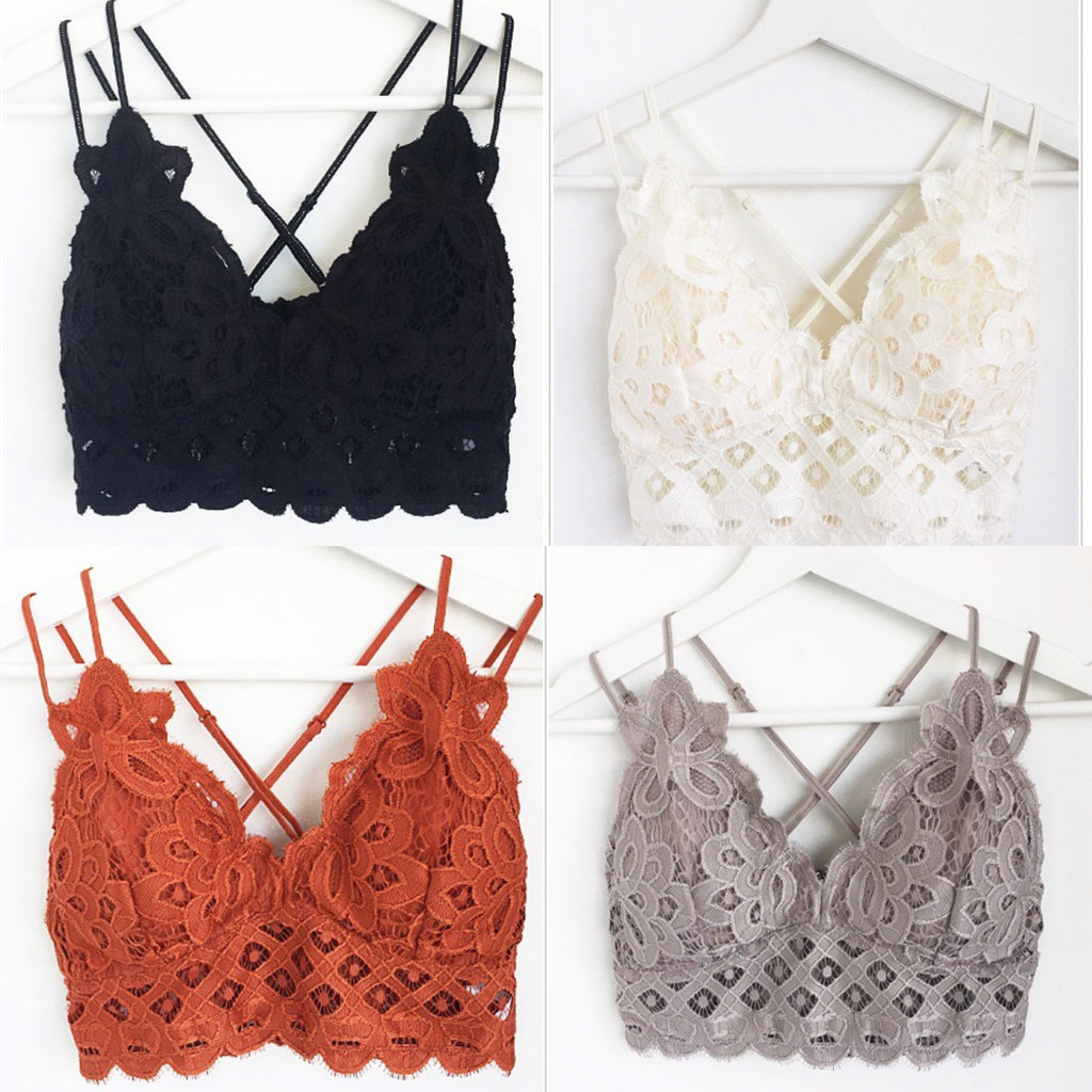 Fall Crochet Lace Bralette