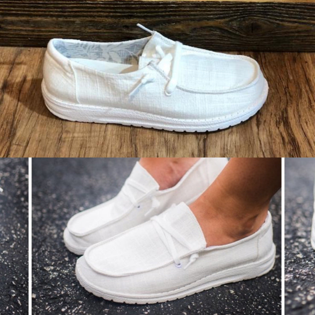 Very G White Boat Shoes