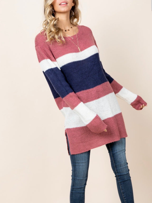 Curvy ~ Door Buster - Exchange or Store Credit - Striped Sweater