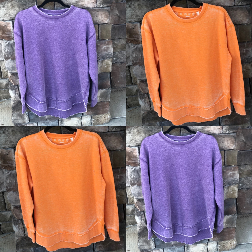 UT Orange and Purple Crew Neck Sweatshirts