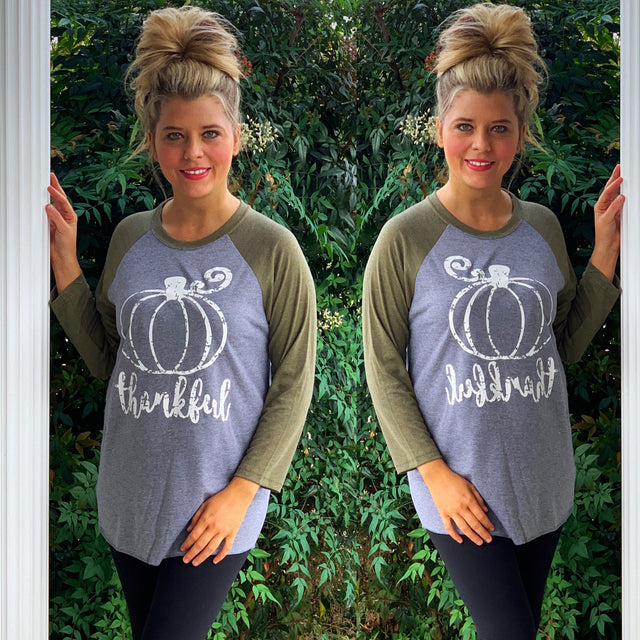 Thankful Pumpkin Raglan