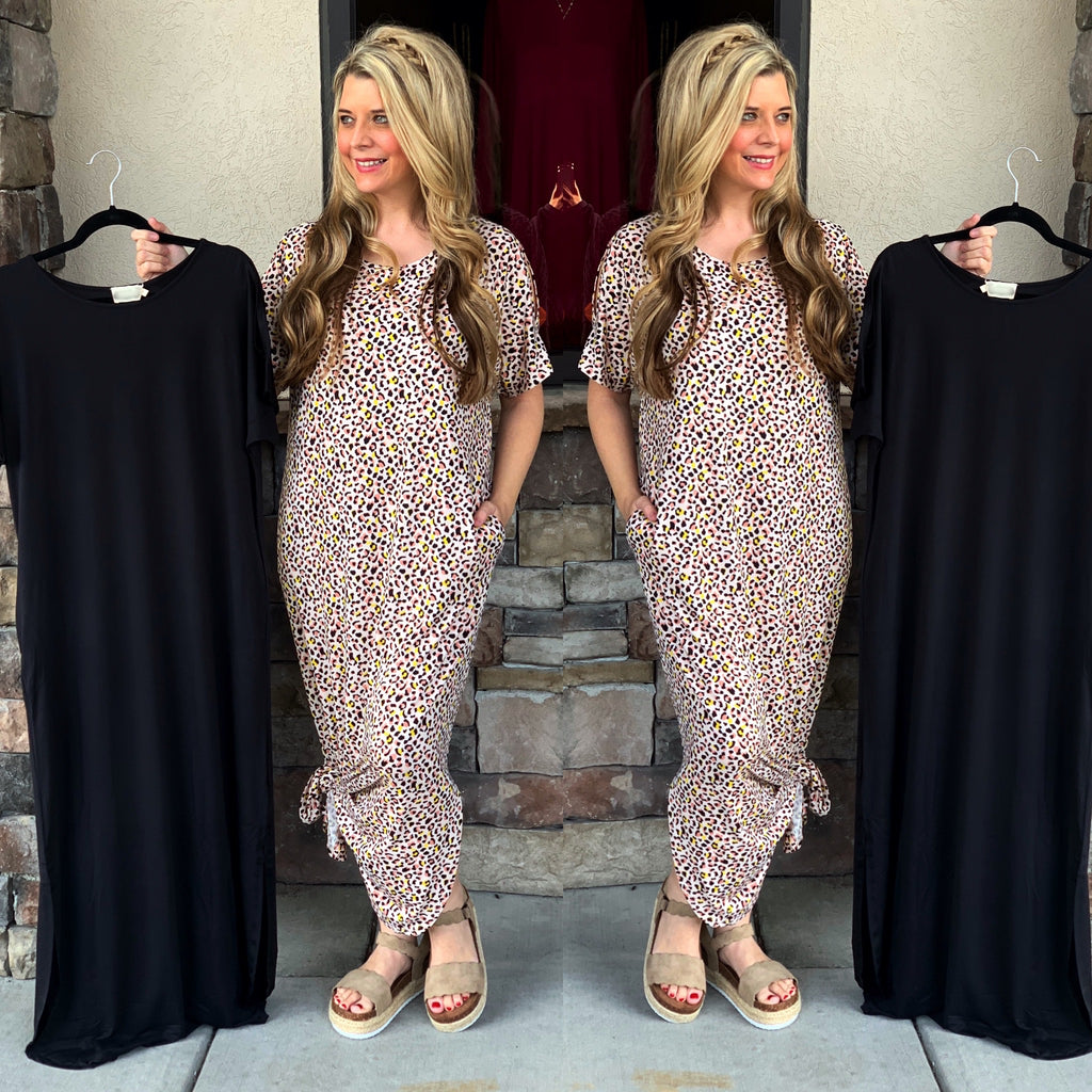 Short Sleeve Oversized Maxi Dress