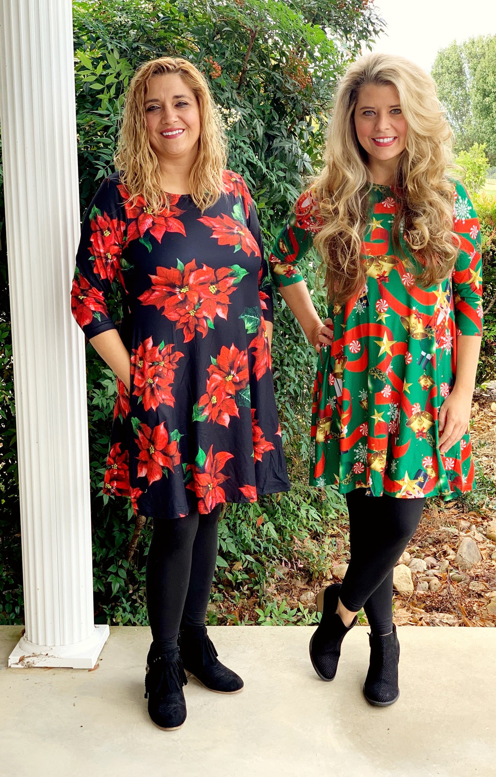 Poinsettia Dress (first one pictured)