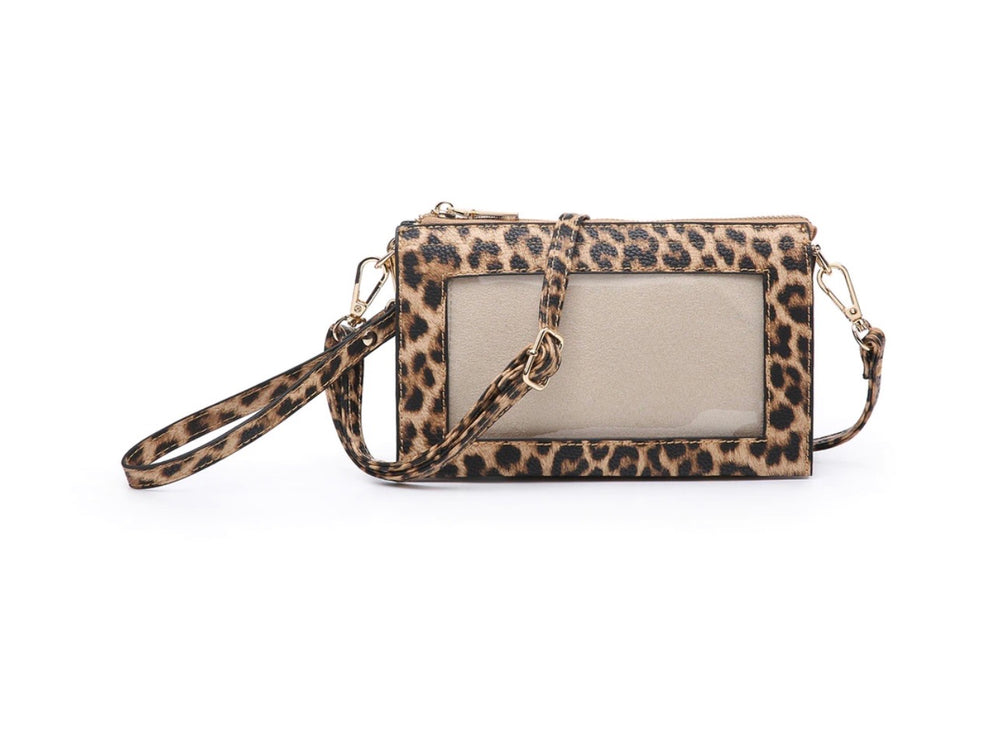 Crossbody Wallet with Clear Phone Zipper