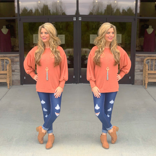 Curvy ~ Coral Soft Sweater