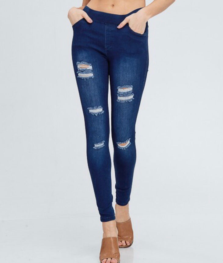 Distressed High Quality Jeggings