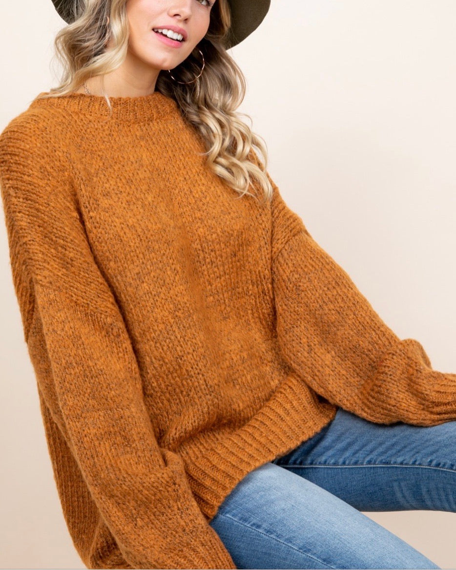DOOR BUSTER - Store Credit or Exchange Only - Balloon Sleeve Oversized Sweater