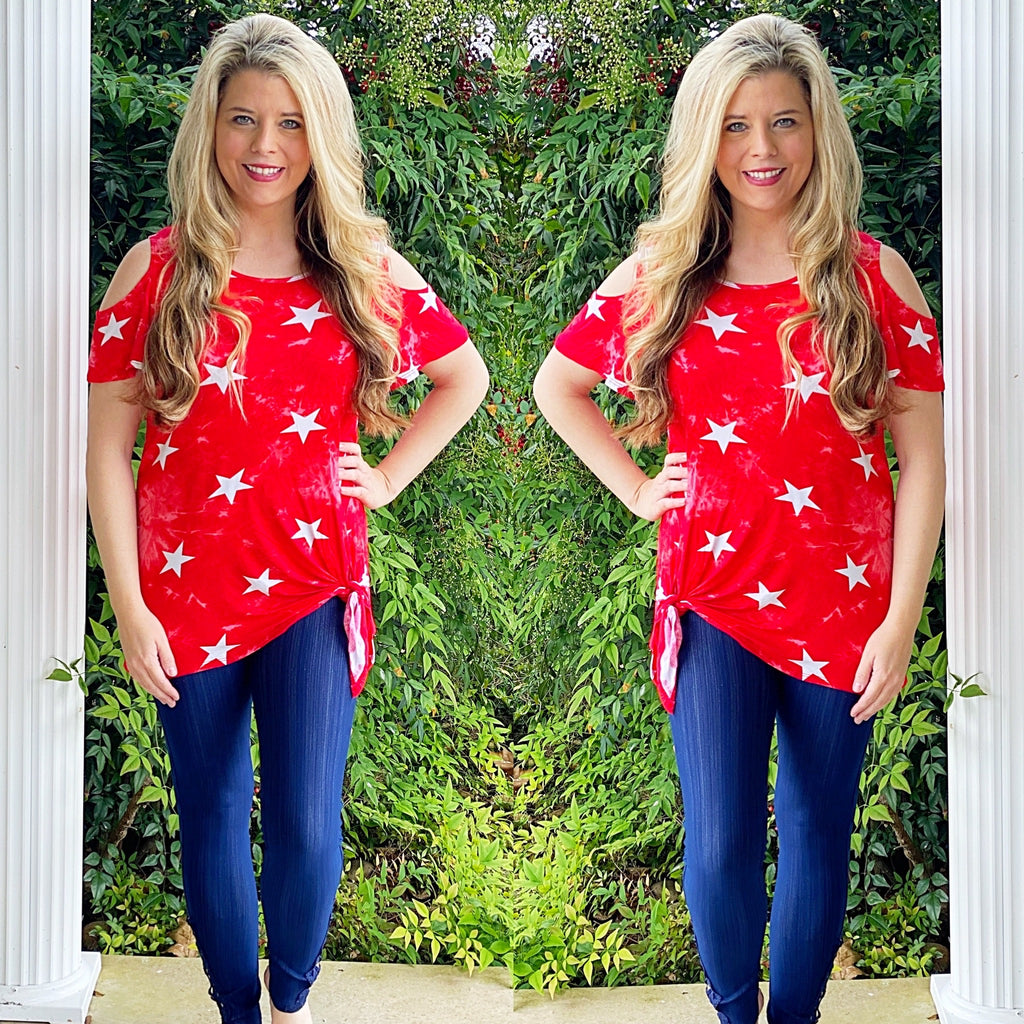 Cold Shoulder Star Top