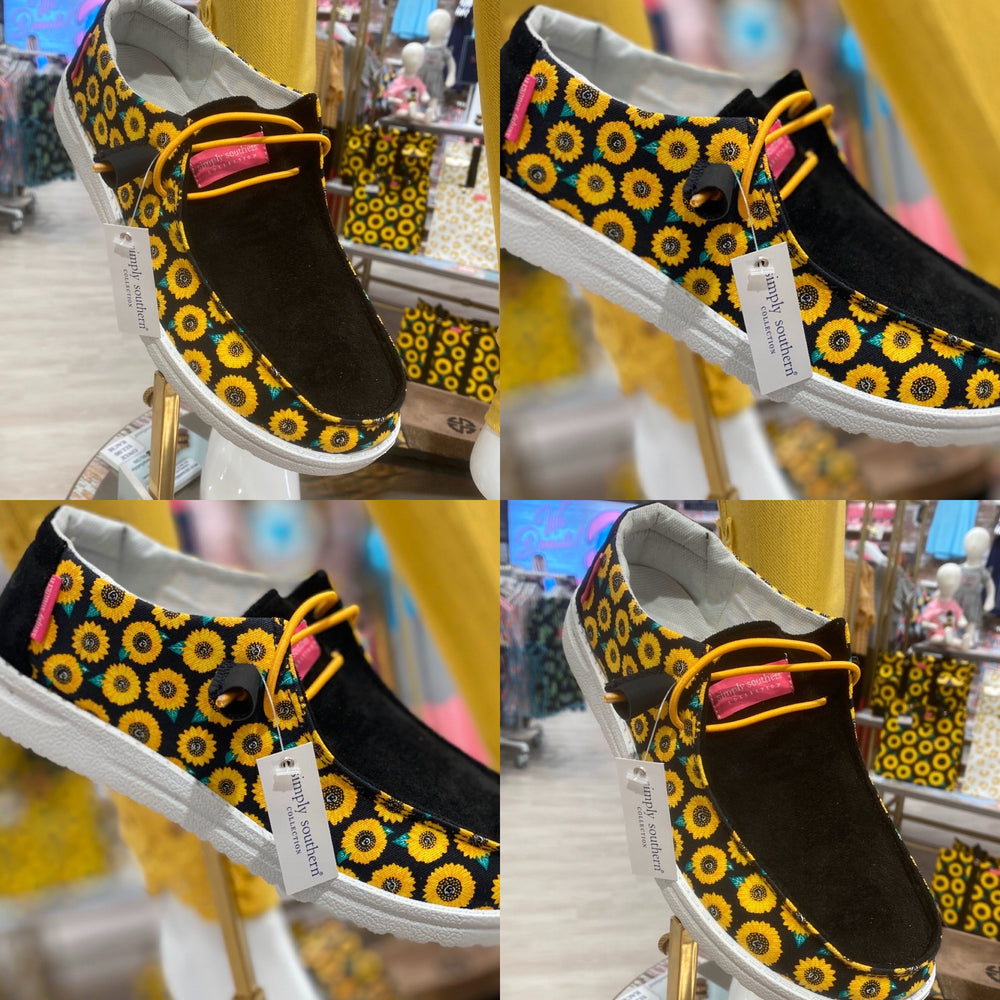 Simply Southern SIip On Sunflower Shoes