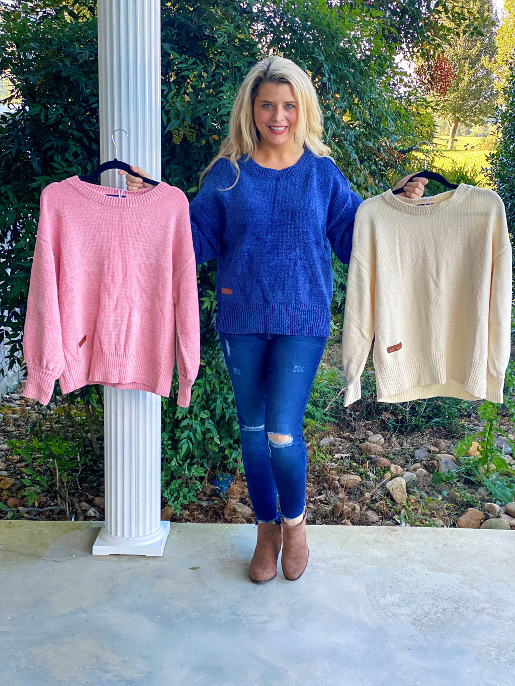 Simply Southern Cold Shoulder Sweater