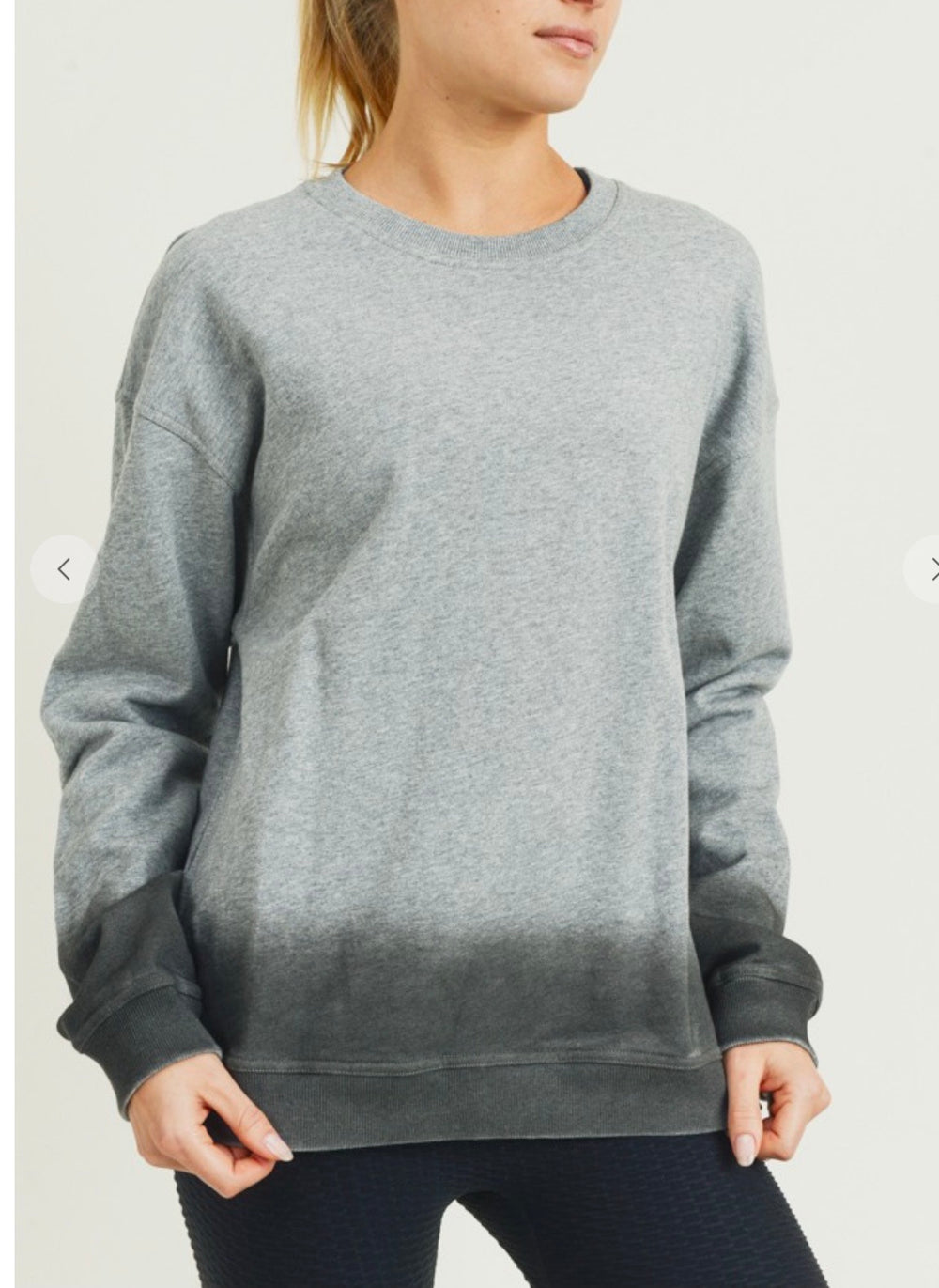 Gray Ombré Terry Pullover