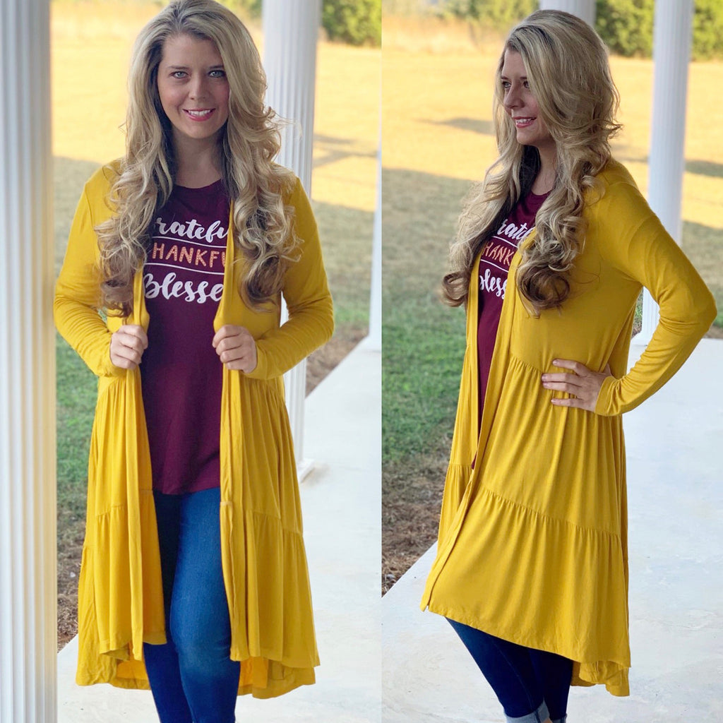 Tiered Duster Cardigan