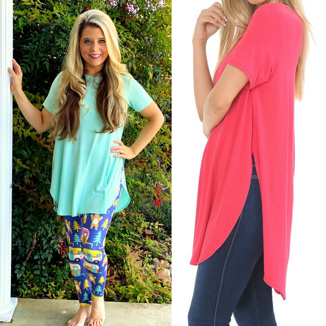 Solid Tunic with Side Slits
