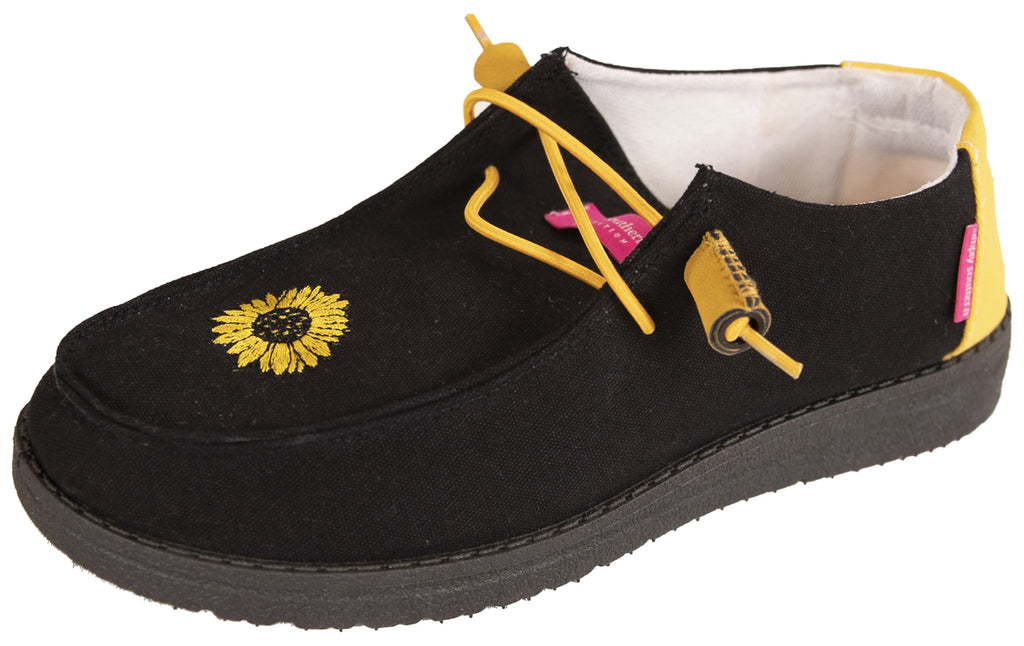 Simply Southern Black Sunflower Shoes