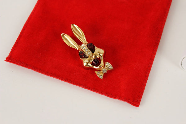 Vintage 1950s  unsigned  Bunny Rabbit Pin Brooch / Easter, Unsigned- Jewelrin