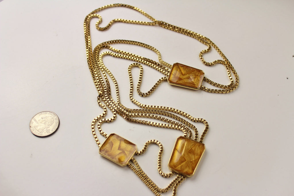 Vintage Trifari Kunio Matsumoto Modern Goldtone Necklace, Trifari, Necklace - Jewelrin