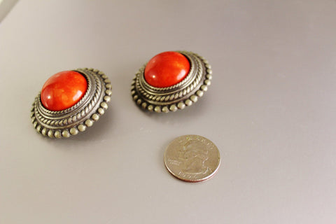 Vintage Ben-Amun Moroccan 60s Couture/Ethnic EARRINGS, Be-Amun- Jewelrin