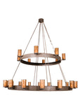 "Modern Lodge Style Ceiling Lights Meyda 100641 - 165""W Chappell 24 LT Two Tier Chandelier"