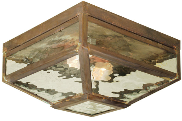 "Rustic Lodge Style Ceiling Lights Meyda 102519 - 12.5""Sq Mission Prime Flushmount Light"