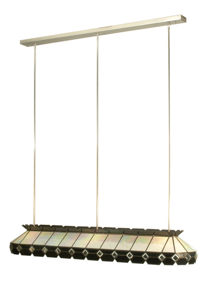 "Modern Cabin Ceiling Lights Meyda 104192 - 74""L Beveled Glass Oblong Pendant Light"