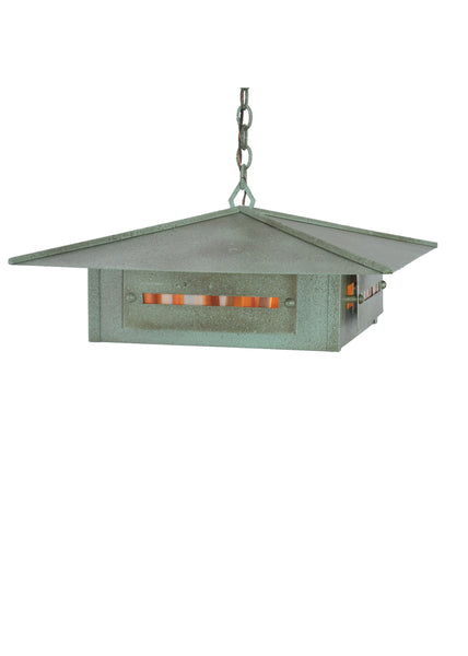 "Modern Log Cabin Style Ceiling Lights Meyda 105984 - 24""Sq Moss Creek Creekside Pendant Light"
