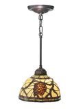 "Rustic Ceiling Lights Meyda 106290 - 8""W Pinecone Mini Pendant Light"