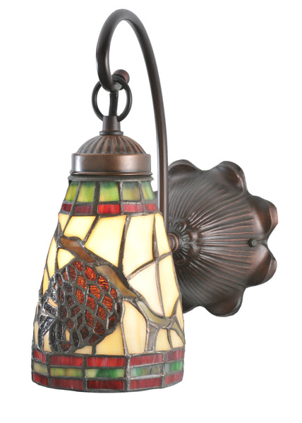 "Farmhouse Style Wall Sconce Lighting Meyda 106293 - 6""W Pinecone Dome Wall Sconce"