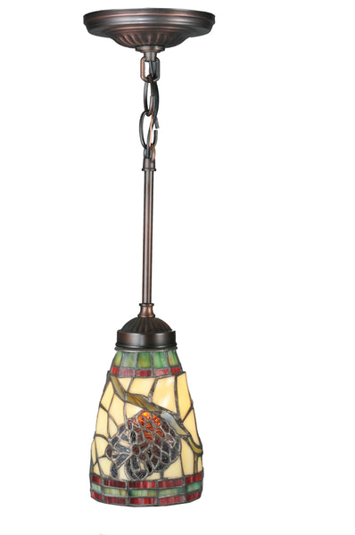 "Rustic Style Ceiling Lights Meyda 106294 - 5""W Pinecone Mini Pendant Light"