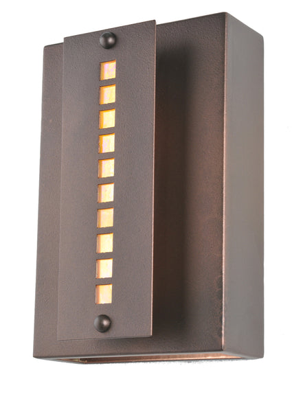 "Cabin Style Wall Sconce Lighting Meyda 106317 - 8""W Moss Creek Stepping Stone Wall Sconce"