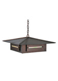 "Modern Rustic Style Ceiling Lights Meyda 106353 - 24""Sq Moss Creek Creekside Pendant Light"