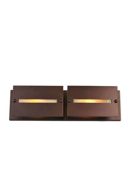 "Modern Farmhouse Style Wall Sconce Lighting Meyda 106355 - 24""W Moss Creek Creekside 2 LT Vanity Light"